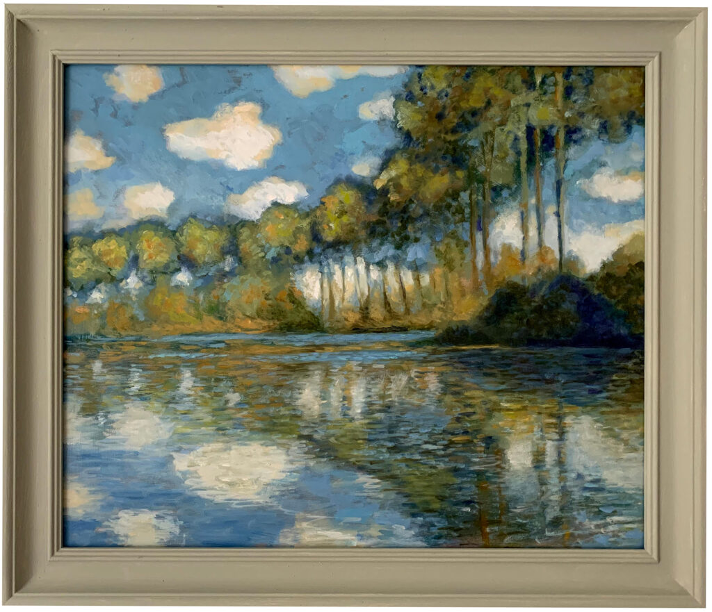 Poplars on the Epte after Monet